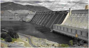Cement structure called grand coulee dam