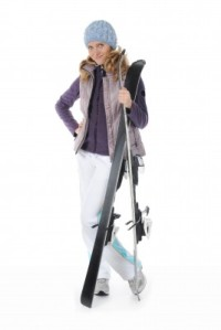 lady wearing ski clothes