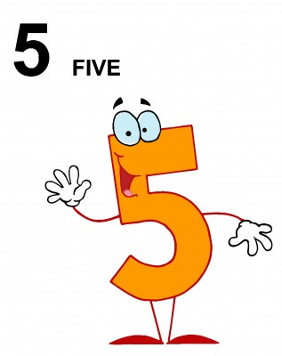 how to remember to write 5 not backwards
