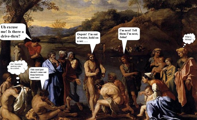 The Bible According to Gregory, John the Baptist Linda Vernon Humor
