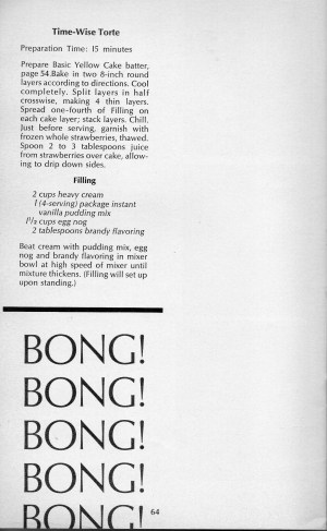 Pillsbury Cookbook 1967, bong bong