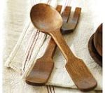 wooden salad tongs from Pottery Barn