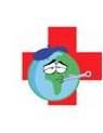 clip art of sick world globe