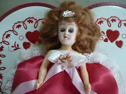 picture of doll on box of chocolates