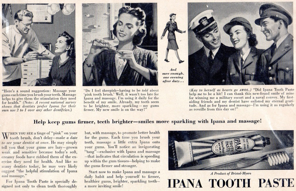 Kay Hunt star of 1943 toothpast Ad