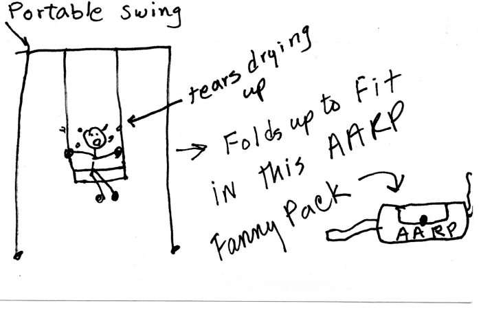 Artisti's rendering of portable swing