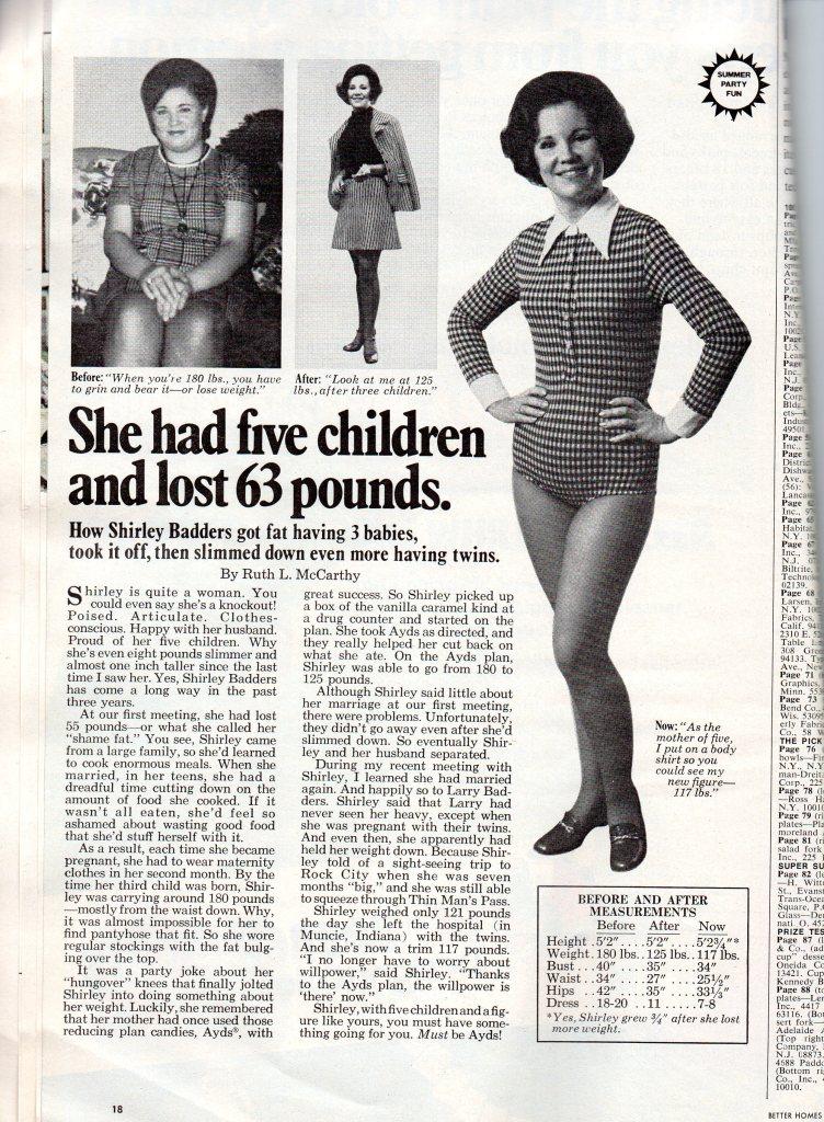 1975 Weight loss ad