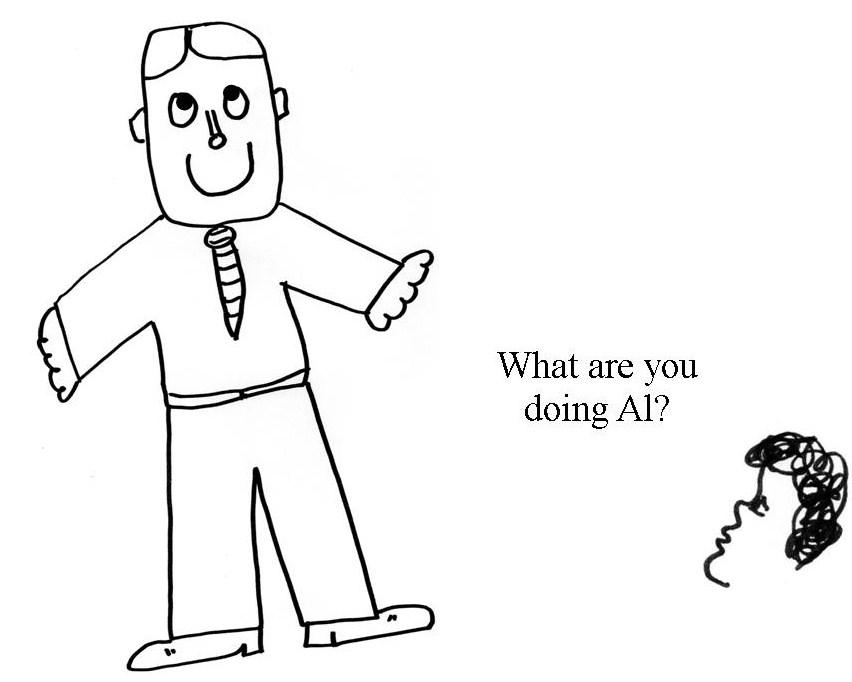 Al Gore Cartoon panel Linda Venron Humor