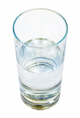 'I like to view the glass as being half full, just not half full of cholesterol!""