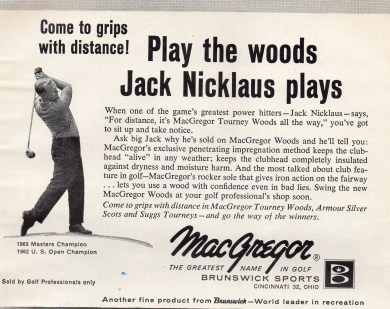 Ad from Sports Illustrated 1963 Golf Ad
