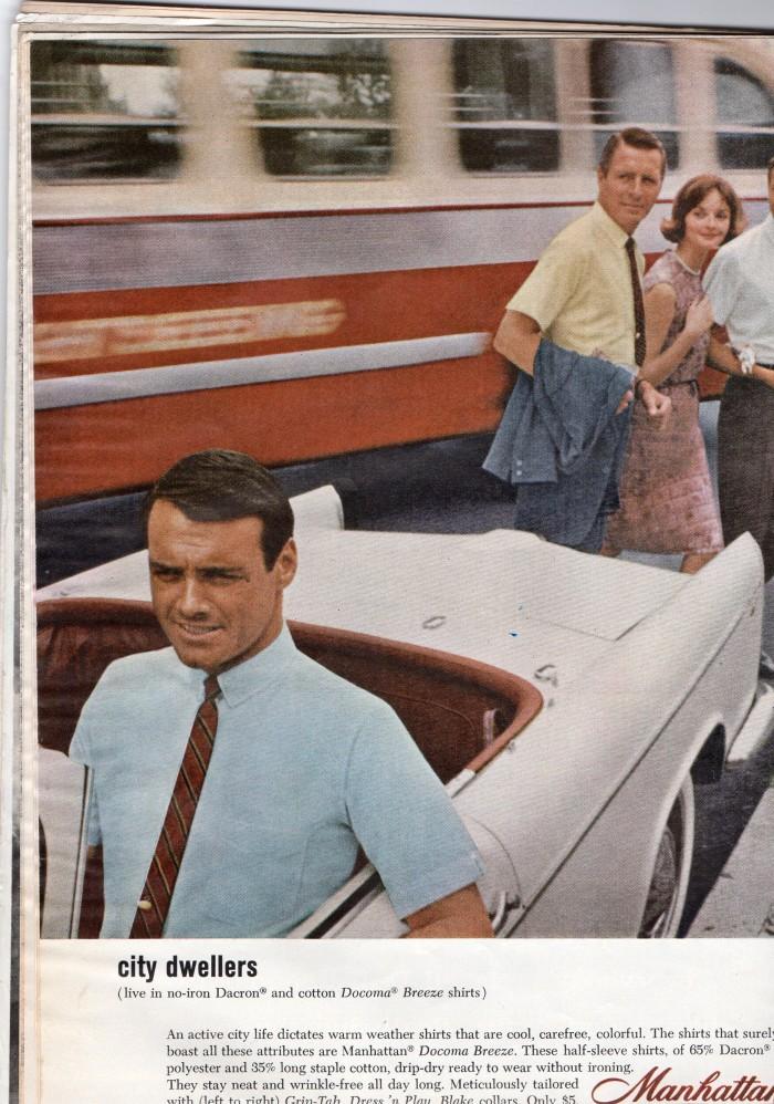 Man in car driving away