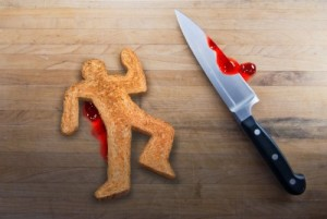 Gingerbread man murdered