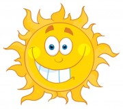 The sun having summer fun