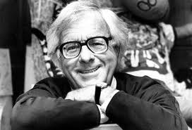 Phone of white-haired Ray Bradbury