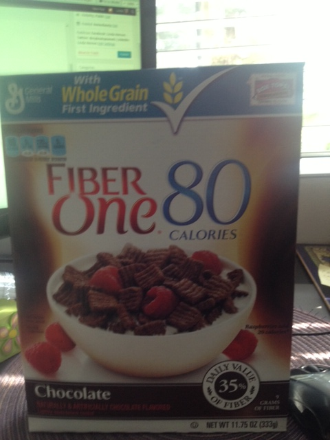 Here's the Old Fogey cereal that was in the bowl I ate.  It's got fiber and 80 calories so I ate four (4) bowls which probably means I ate the same amount of calories and sugar as two maple bars.  Why didn't I just eat Maple Bars instead?  Because today is National Bleh day.  And what better way to Bleh Out!