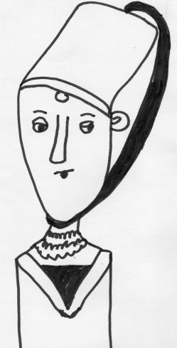 Linda Vernon Humor Drawing Lady Medieval People