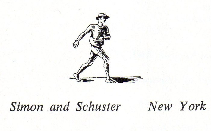 Simon and Schuster logo humorous commentary