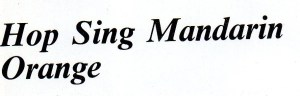 Hop Sing Mandarin Orange