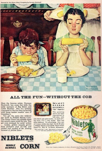 1953 Green Giant Norman Rockwell Ad