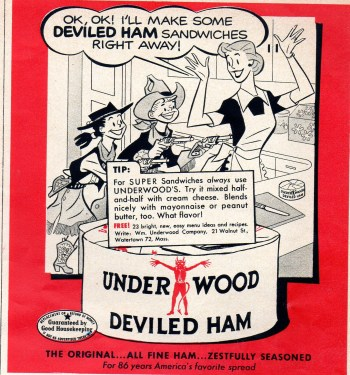 1953 Ad for Underwod Deviled Ham