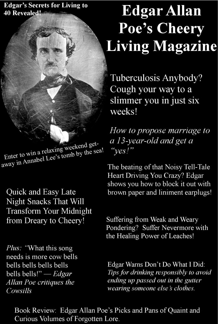 Cheering up Edgar Allan Poe, Linda Vernon Humor