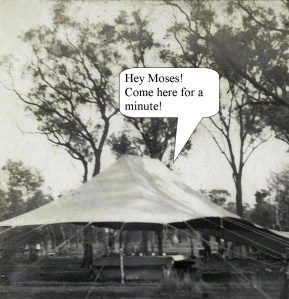 The Lord Calls to Moses from his Tent Linda Vernon Humor, The Bible According to Gregory