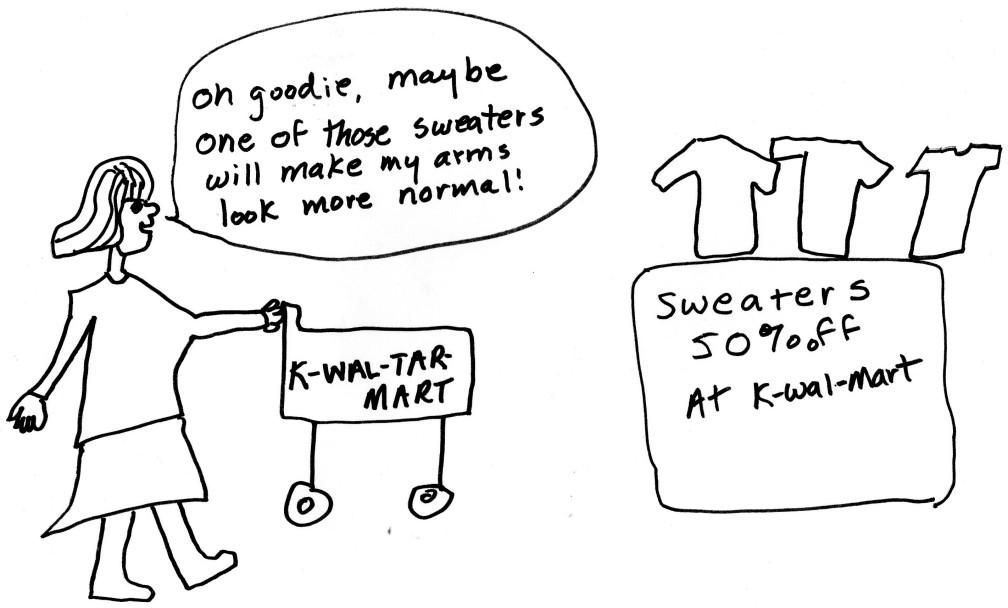 Shopping at K-Wal-Tar-Mart
