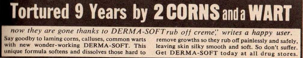 Warts and corns of 1967