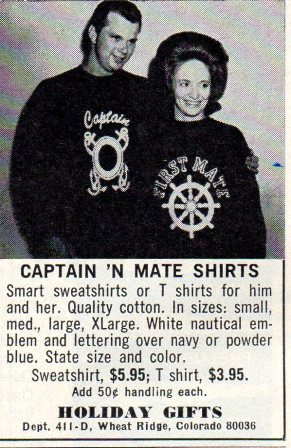 Captain and first mate t-shirts