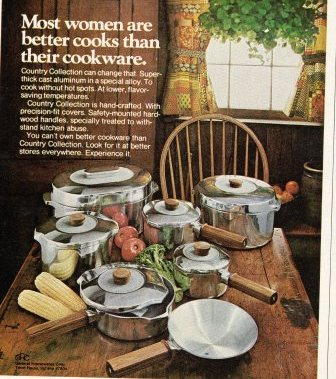 Slightly-Creepy-Seventies Cookware that was smarter than some women