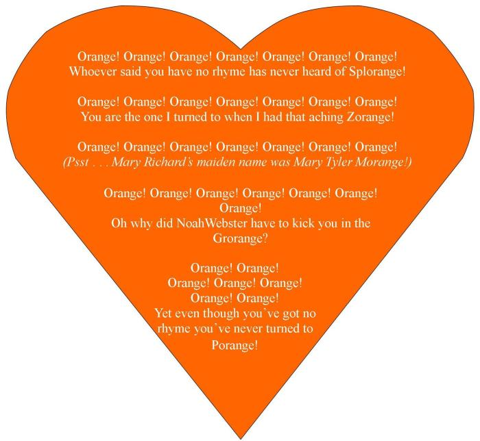 why I have so much respect for the color orange