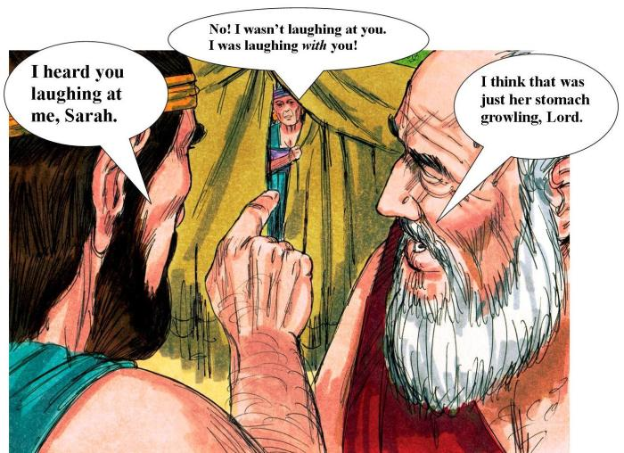 The Lord accuses Sarah of Laughing at him