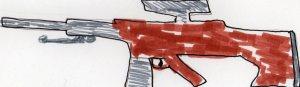 Darlene's high-powered, semi automatic potato gun . . . but don't worry, guns don't kill people, potatoes do.