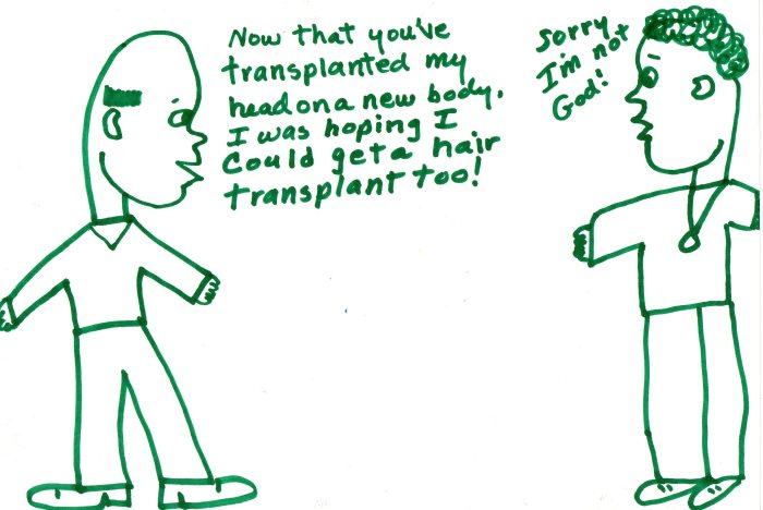 Head Transplant Coloring Page