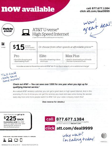 A% & % U-Verse High Speed Internet